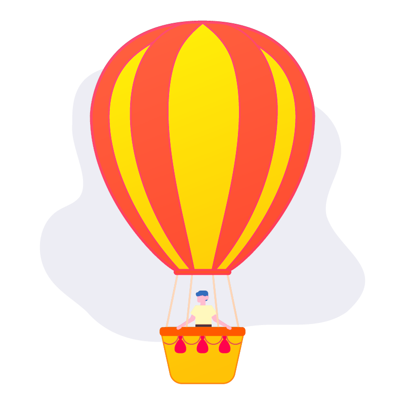 Person In Hot Air Balloon