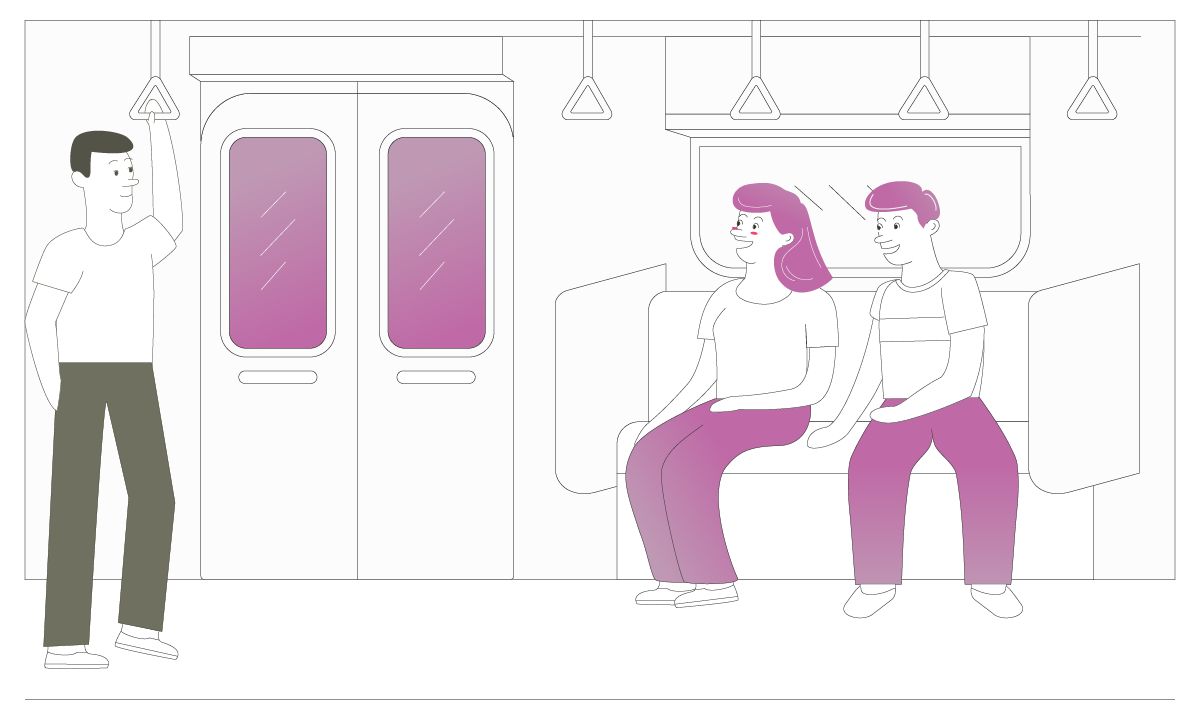 Someone On A Train Illustration