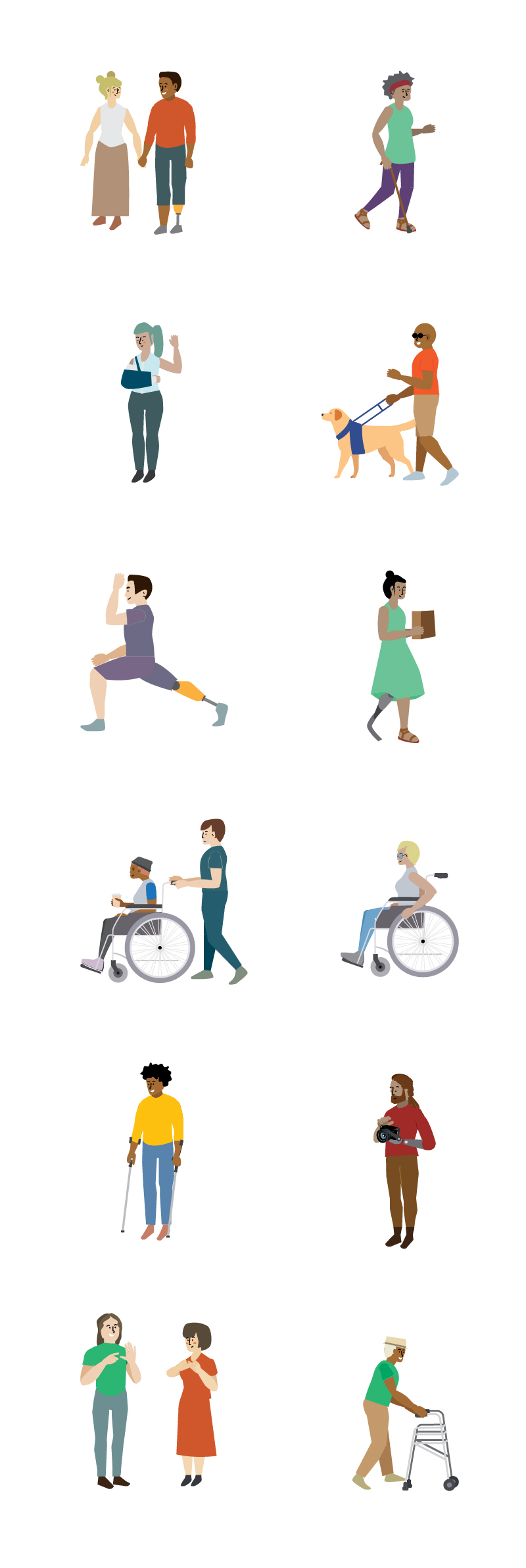 Disabilities Illustration Pack