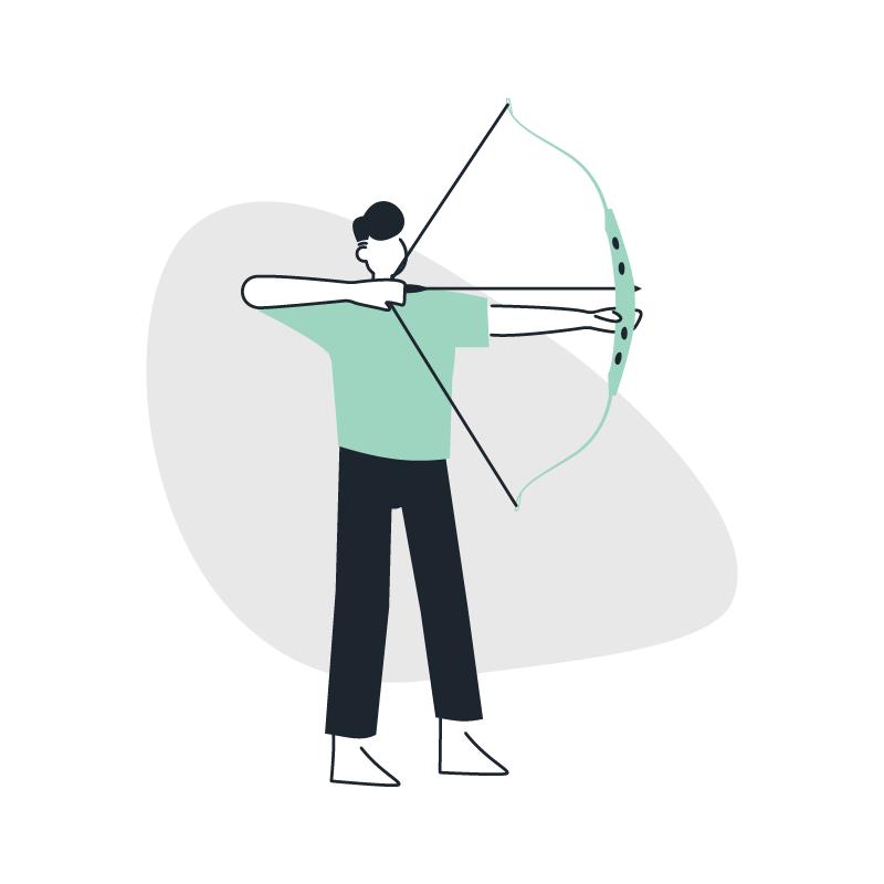 A person shooting an arrow