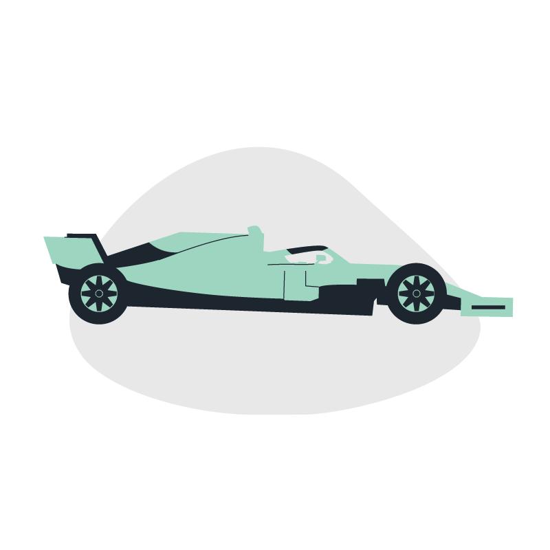 a formula 1 race car