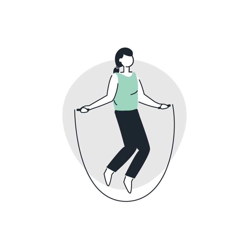 a person jumping rope